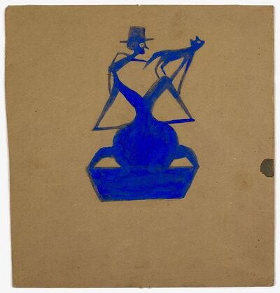 Bill Traylor, 'Man and Cat on Organic Form', 1989-1942