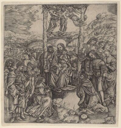 Christofano Robetta, 'The Adoration of the Magi'