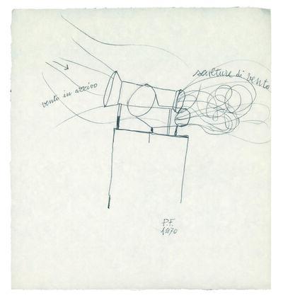 Piero Fogliati, 'Sculture di vento in arrivo', 1970