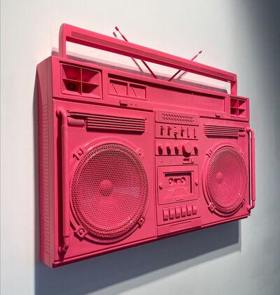 Lyle Owerko, 'Bubblegum Pink Boombox Sculpture', 2019