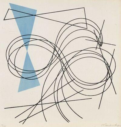 """Sophie Taeuber-Arp, 'Passion de lignes. Plate 5 from the portfolio """"5 compositionen + 5 constructionen""""', 1941"""
