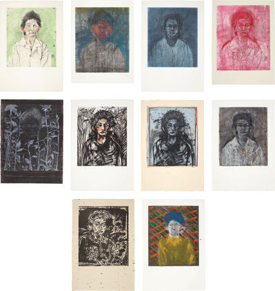 Jim Dine, 'Nancy Outside in July I; XIII-XIV; XVII; XIX-XXIV', 1978; and 1981