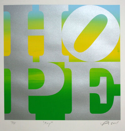 Robert Indiana, 'HOPE', ca. May 2015