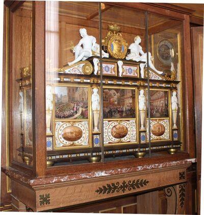 Sèvres Porcelain Manufactory, 'Le Cabinet Commémoratif du Mariage du Duc d'Orléans (The Duke of Orléans Commemorative Wedding Cabinet)', 1840