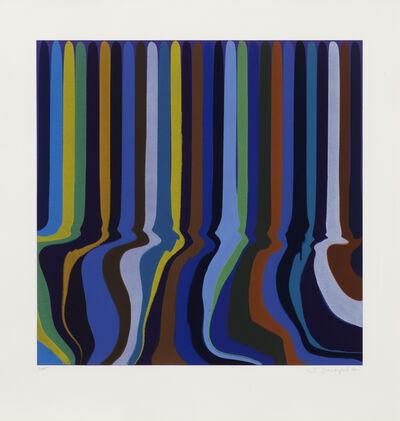 Ian Davenport, 'Royal Blue Etching', 2011