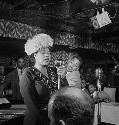 William Gottlieb, ' Portrait of Ella Fitzgerald & Dizzy Gillespie, NYC', 1947