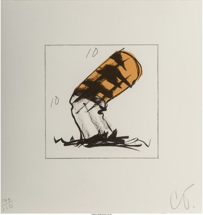 Claes Oldenburg, 'Butt for Gantt, from the Harvey Gantt Portfolio', 1991