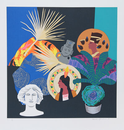 Hunt Slonem, 'Three Goddesses and Fallen God', ca. 1980