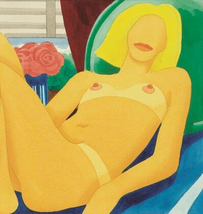 Tom Wesselmann, 'Claire from Beach Pose (Blue Sheet)', 1965-1976