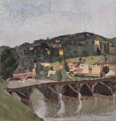 Felice Casorati, 'Ponte (Moncalieri)', 1926