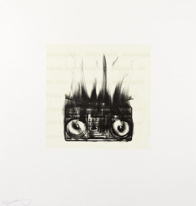 Gary Simmons, 'Flaming Boom Box', 2005
