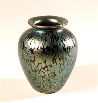 Johann Lötz Witwe, Klostermühle, 'Small vase cobalt Papillon', 1900