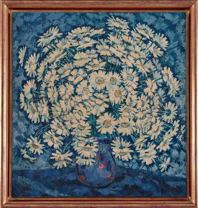 Francisco Narvaez, 'Flores Blancas en Fondo Azul', ca. 1960