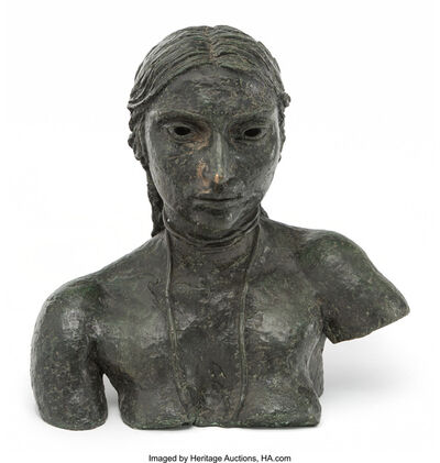 Jacob Epstein, 'Third Portrait of Sunita (Bust with necklace)', 1926