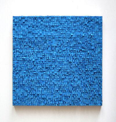 Reiner Seliger, 'Kreidbild blau, mittel', 21st century