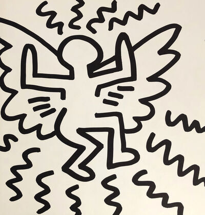 Keith Haring, 'Keith Haring (untitled) Flying Angel lithograph 1982', 1982
