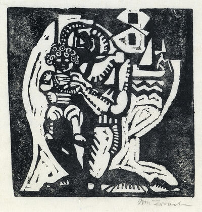 William Zorach, 'Father and Son', 1916