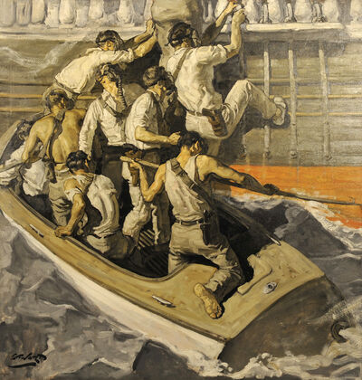 Edmund Franklin Ward, 'Pirates Boarding Ship'