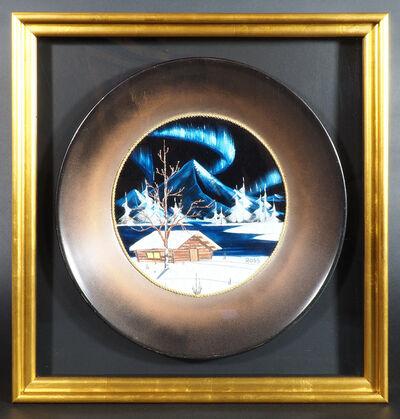 Bob Ross, 'Bob Ros Signed Original Gold Pan on Velvet Painting', ca. 1980