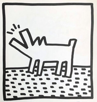 Keith Haring, 'Keith Haring (untitled) Barking Dog lithograph 1982', 1982