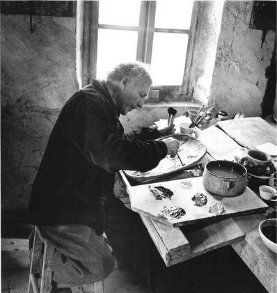 Philippe Halsman, 'Marc Chagall in his studio in Saint-Paul-de-Vence', 1960
