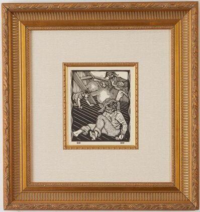 Gustave Baumann, 'A Quarrel is Averted', 1916-1918