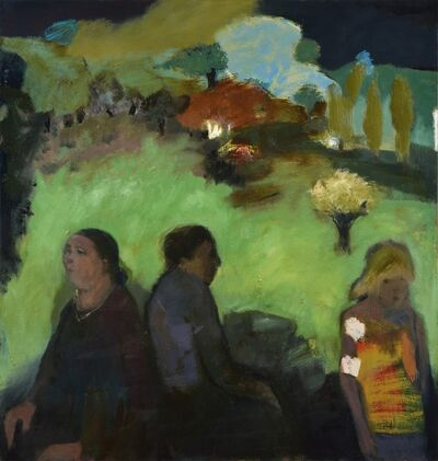 Jennifer Hornyak, 'Green Landscape with Blue Tree', 2015