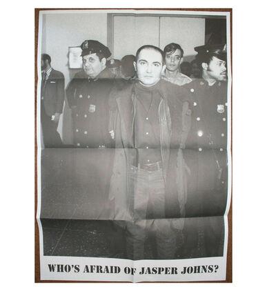 "Sue Williams, '""Who's Afraid of Jasper Johns ?"", Group Exhibition Poster, Tony Shafrazi Gallery NYC', 2008"