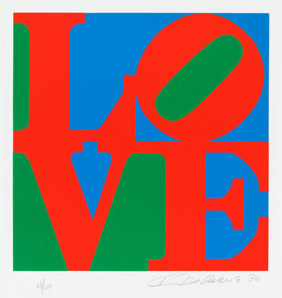 Robert Indiana, 'Love', 1996