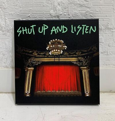 "Alejandro Monge, '""BLACK SERIES: SHUT UP AND LISTEN 2""', 2019"