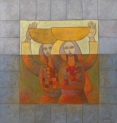 Sliman Mansour, 'Sisters', 2008