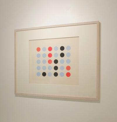 Vera Molnar, 'Lent mouvement bleu, orange, rouge et noir', 1955