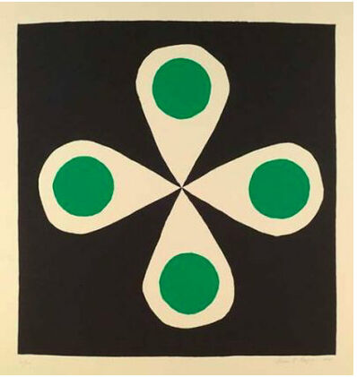 Breon O'Casey, 'Flower with Green Circles', 2001