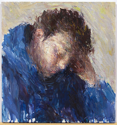 Daniel Enkaoua, 'Liel accoudé en bleu', 2020