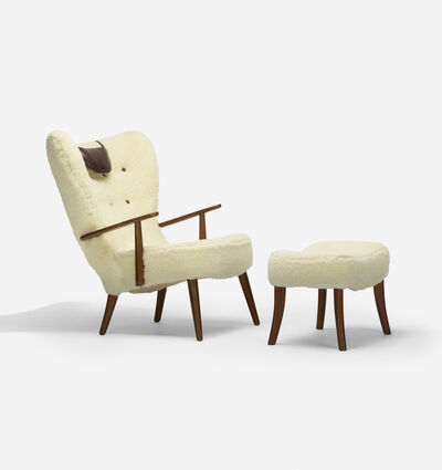 Acton Schubel, 'Pragh Lounge Chair And Ottoman', c. 1950