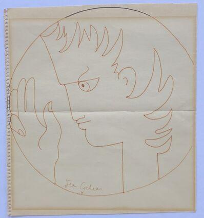 Jean Cocteau, 'Profile and Hand', ca. 1960