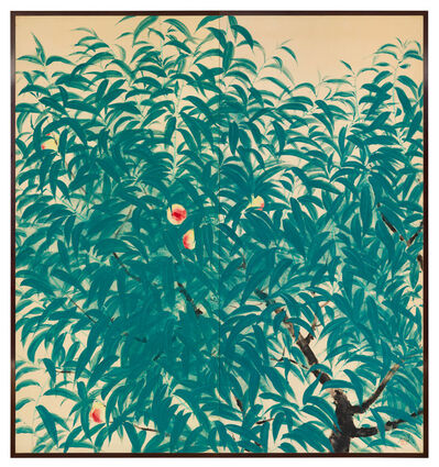 Sakaguchi Seijiro, 'Folding Screen, Peaches, (T-4410)', 1936