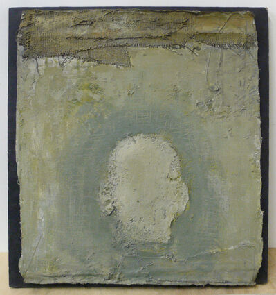 Zhang Hongtu, 'Self-Portrait, the back, green', 1989