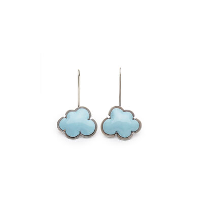 Lisa Crowder, 'Blue Enamel Cloud Earrings', 2018