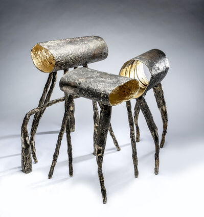 Gregory Nangle, 'Three Stools: Five Legs And Not One Friend; I Can't Reach You; Left Behind', 2019
