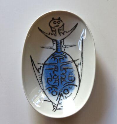 """Wifredo Lam, 'Porcelana di Albisola - 9"""" cheese plate', 1970"""