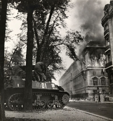 Robert Capa, 'Allied troops in Paris attaching Germans entrenched in public buildings, 11 September, 1944', 1944