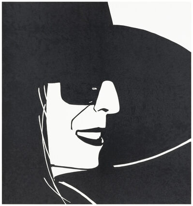 Alex Katz, 'Large Black Hat Ada', 2013