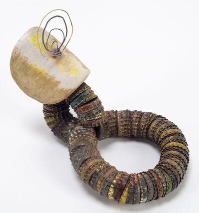Elisa Lendvay, 'Shield (rust circle.)', 2017