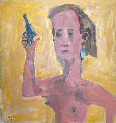 Richard Huntington, 'Nude with Gun', 2020