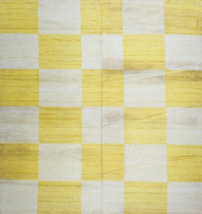 Scandinavian, 'a yellow and white rag carpet', Third quarter 20th Century
