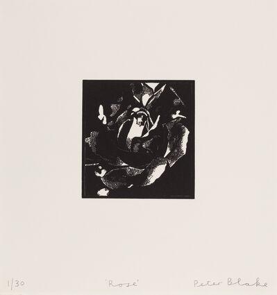 Peter Blake, 'Rose', 2015