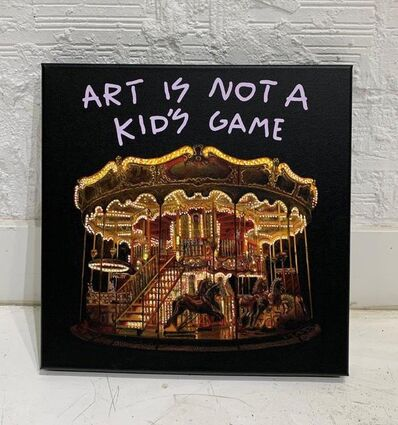 "Alejandro Monge, '""BLACK SERIES: ART IS NOT A KID'S GAME""', 2019"