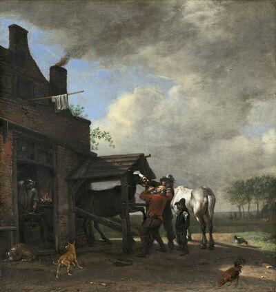 Paulus Potter, 'A Farrier's Shop', 1648