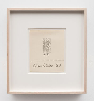 Alan Shields, 'Untitled (typed drawing)', 1968